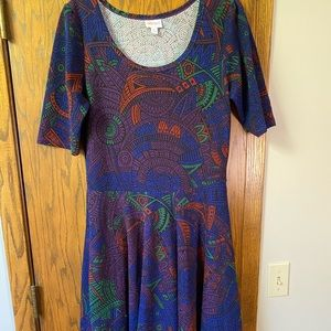Colorful LuLaRoe Nicole Dress